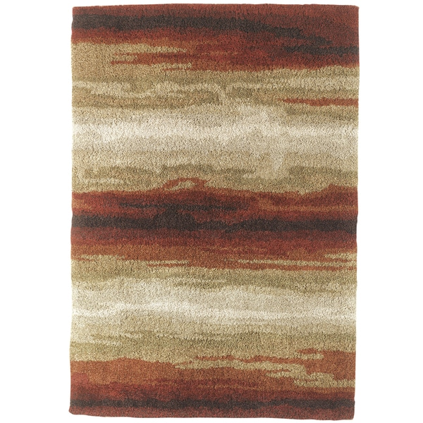 Emerge Abstract Red Area Rug (5'3 x 7'6)