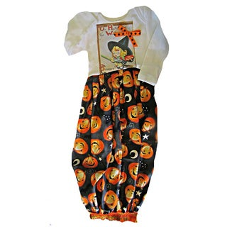 Halloween Layette Baby Girl Outfit Gown