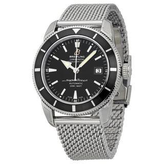 Men's Breitling Superocean Heritage 42 Mesh Bracelet Watch