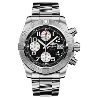 Men's Breitling Avenger II Black Dial Stainless Steel Watch