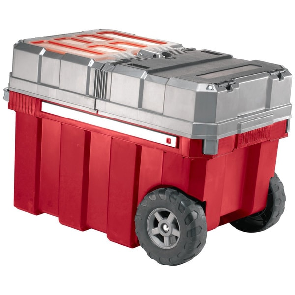 Masterloader Deluxe Toolbox with Retractable Handle and Wheels