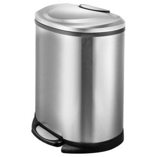JoyWare 13.2 Gallon/50 Liter Semi-Round Step Trash Can