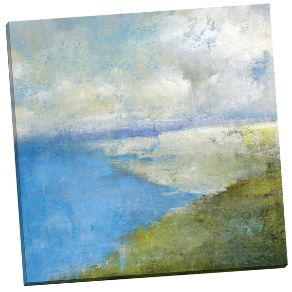 'Coastal Afternoon Two' Carney 24-inch x 24-inch Wrapped Canvas Wall Art