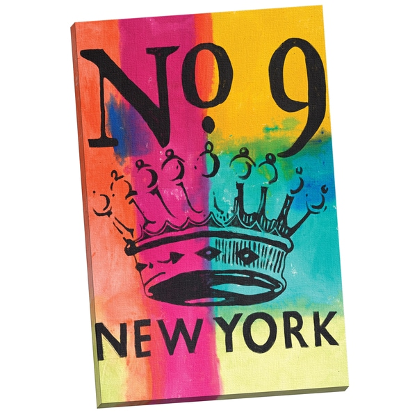 'Crown No. 9' Mark Andrew Allen 24-inch x 36-inch Wrapped Canvas Wall Art