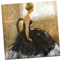 Portfolio Canvas Decor 'Girl in Dress' Bridges 24-inch x 24-inch Wrapped Canvas Wall Art