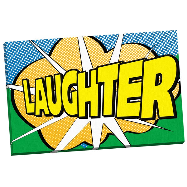 'Pop Laughter 2' IHD Studio 24-inch x 36-inch Wrapped Canvas Wall Art
