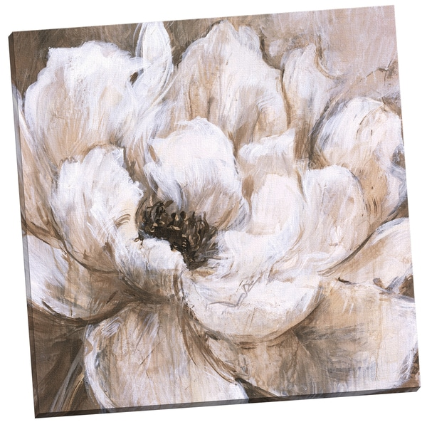 'Peonies Blanche II' Carson 24-inch x 24-inch Wrapped Canvas Wall Art