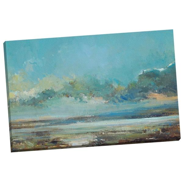 Portfolio Canvas Decor Stormy Blues I by Elinor Luna Painting Print on Wrapped Canvas 16199818
