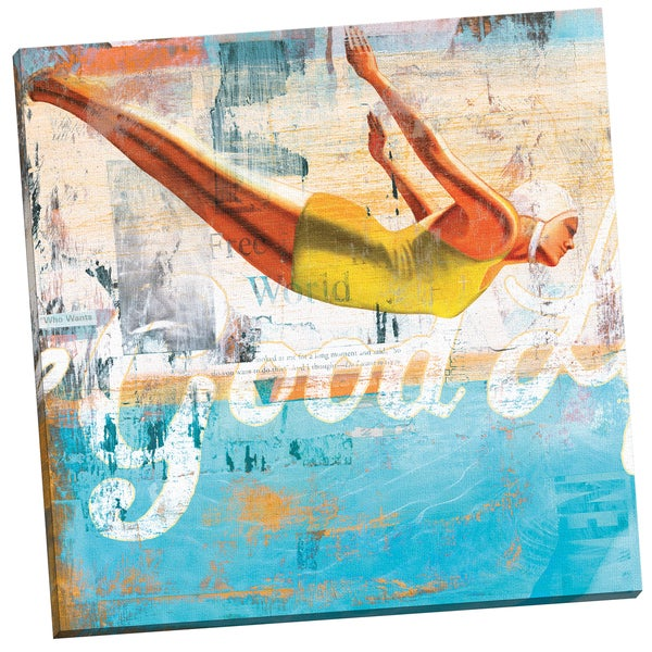 'The Good Life' Cory Steffen 24-inch x 24-inch Wrapped Canvas Wall Art