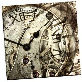 Portfolio Canvas Decor 'Vintage Clock' GI ArtLab 24-inch x 24-inch Wrapped Canvas Wall Art