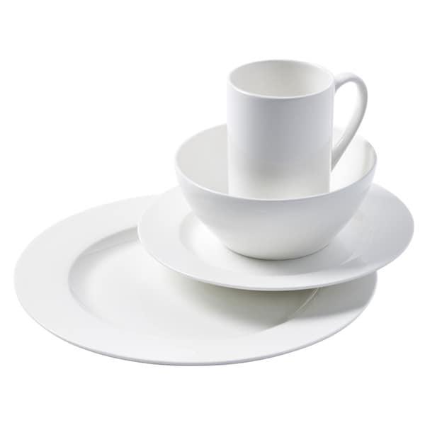 Cascade Round Bone China Dinnerware 16-piece Set 16199908