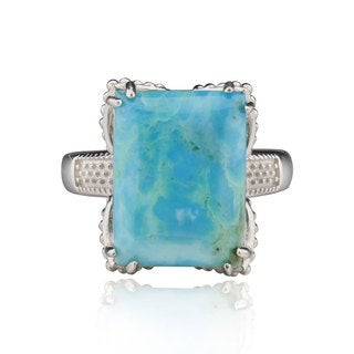 Sterling Silver Rectangle Turquoise Ring