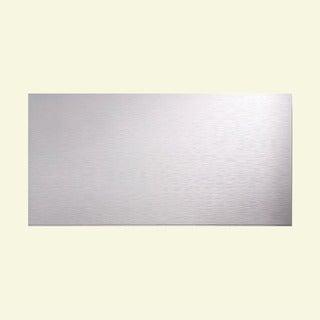 Fasade Ripple Horizontal Matte White 4-foot x 8-foot Wall Panel
