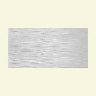 Fasade Waves Horizontal Gloss White 4-foot x 8-foot Wall Panel