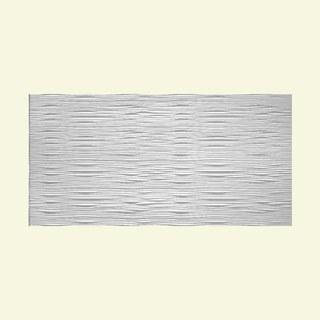 Fasade Waves Horizontal Matte White 4-foot x 8-foot Wall Panel