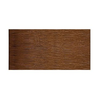 Fasade Waves Horizontal Oil Rubbed Bronze 4-foot x 8-foot Wall Panel