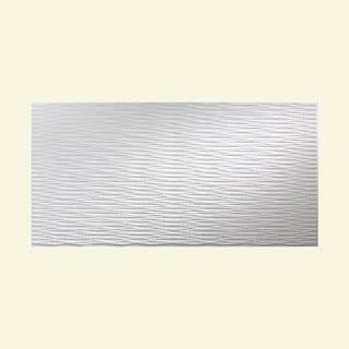 Fasade Dunes Horizontal Matte White 4-foot x 8-foot Wall Panel