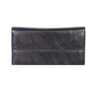 Scully Women's Black Leather Wallet Clutch