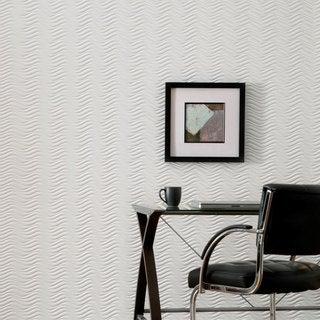 Fasade Current Horizontal Gloss White 4-foot x 8-foot Wall Panel
