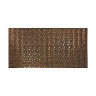 Fasade Current Horizontal Oil Rubbed Bronze 4-foot x 8-foot Wall Panel