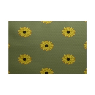Sunflower Frenzy Flower Print Rug (3' x 5')