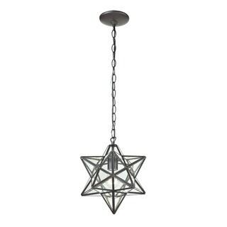 Sterling Star 1-light Glass Pendant Lamp