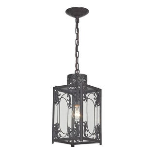 Sterling Belwood Rustic Iron Lantern With Filigree Detail