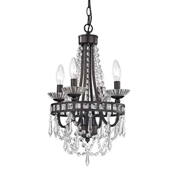 Sterling Mini Dark Bronze And Clear Chandelier