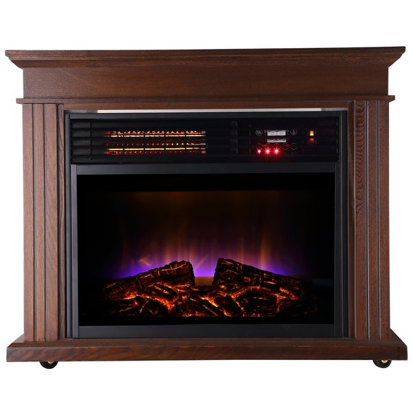 Warm Living Deluxe LED Wood Infrared Fireplace