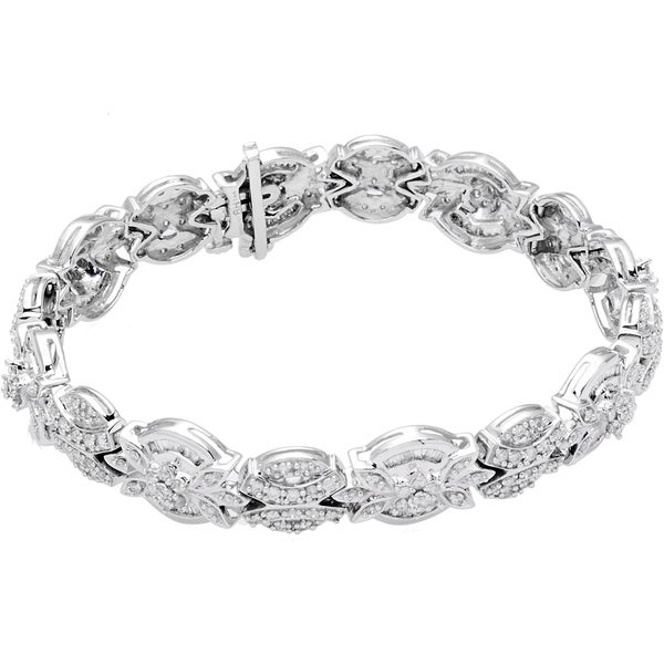 EFFY 14k White Gold Diamond Tennis Bracelet