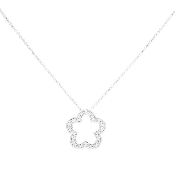EFFY Final Call 14k White Gold Diamond Pendant Necklace