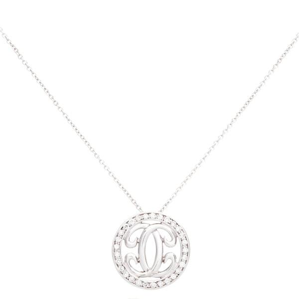 EFFY Final Call 14k White Gold Diamond Pave Circle Pendant Necklace