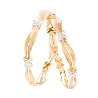 EFFY 14k Yellow Gold Diamond Hoop Earrings by EFFY Final Call (H-I, I1-I2)