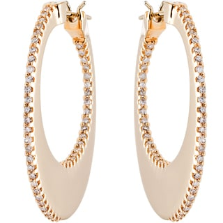 EFFY 14k Yellow Gold Designer Diamond Hoop Earrings by EFFY Final Call (H-I, I1-I2)