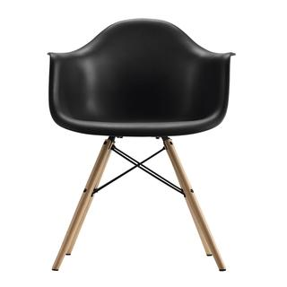 DHP Black Eames Replica Molded Chair with Wood Legs