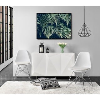 DHP White Eames Replica Eiffel Upholstered Chair, set of 2