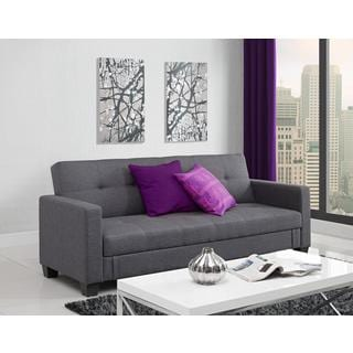 DHP Grey Leighton Storage Futon