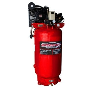Speedway 80 Gallon Two Stage Compressor-Cast Iron Belt Drive pump with ASME tank