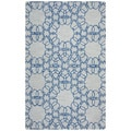 Arden Loft Easley Meadow Beige/ Blue Geometric Abstract Hand-tufted Wool Area Rug (9' x 12')