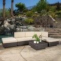 Christopher Knight Home Santorini Outdoor 6-piece Brown Wicker Sofa Set with Cushions