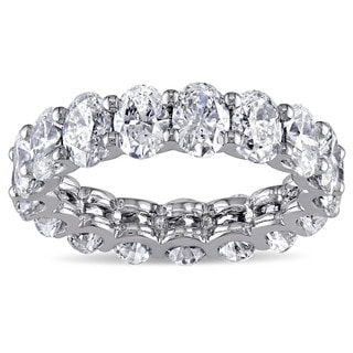 Miadora Signature Collection 19k White Gold 4ct TDW Diamond Eternity Ring (H-I, VS1-VS2)