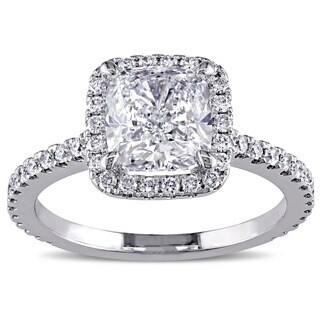 Miadora 19k White Gold 2 1/2ct TDW Diamond Ring (G-H, SI1-SI2)