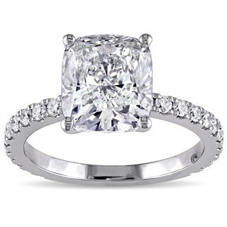 Miadora Signature Collection 19k White Gold 4ct TDW Certified Diamond Ring (J, VS1) (GIA)