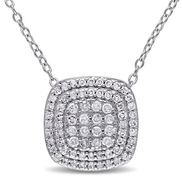 Miadora Sterling Silver 1/2ct Necklace