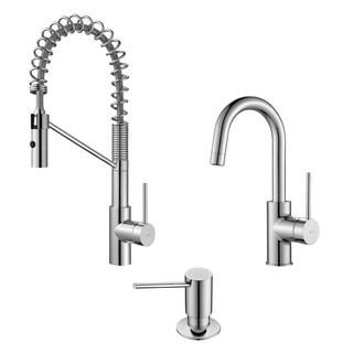 Kraus Mateo Commercial Style Kitchen Faucet w Bar/Prep Faucet