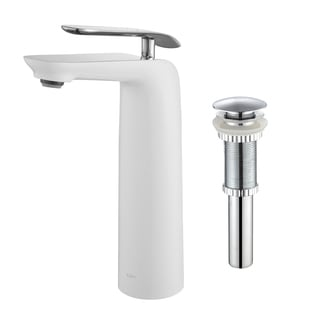 Kraus Seda Single Lever Vessel Bathroom Faucet with Matching Pop-up Drain