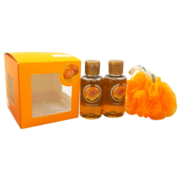 The Body Shop Mini Honeymania Gift Cube 3-piece Set