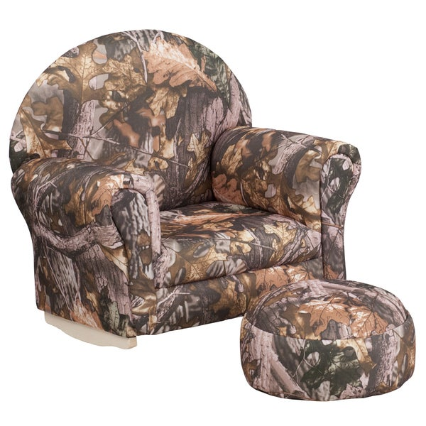 Kids Camo Fabric Rocker