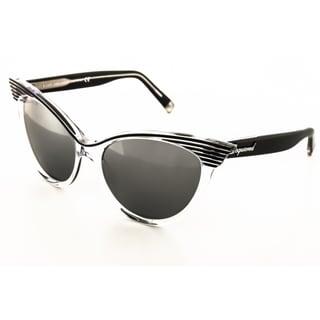DSquared Women's DQ0101 Black Round Sunglasses