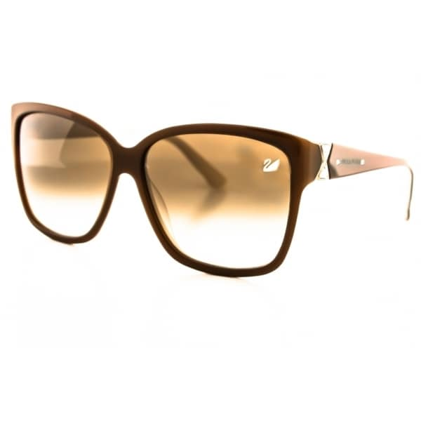 Swarovski Women's SK0057 Brown Rectangle Sunglasses